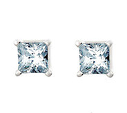 Princess Cut Diamond Stud Earrings, 14K, 1/4ctt w,  by Affinit - J316886