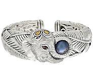 JAI Sterling & 14k Cultured Mabe Pearl Elephant Cuff Bracelet - J321086