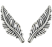 Sterling Silver Feather Ear Climber Earrings by American West - J322986