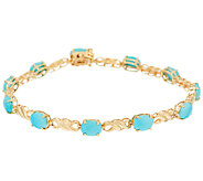 Sleeping Beauty Turquoise 8 Tennis Bracelet 14K Gold - J323086