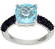 Judith Ripka Sterling 4.90 cttw Blue Topaz & Iolite Ring - J323386