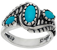 Sterling Silver Sleeping Beauty Turquoise Leaf Design Ring by American West - J323886
