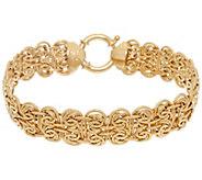 14K Gold 6-3/4 Fancy Oval Byzantine Bracelet, 8.0g - J324686
