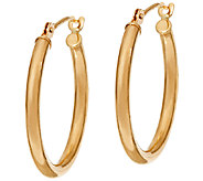 EternaGold Polished 3/4 Tube Hoop Earrings 14K Gold - J325286