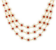 Joan Rivers Jeweled Florets Three-Row 17 Necklace w/ 3 Extender - J327786