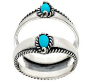 Carolyn Pollack Sleeping Beauty Turquoise Ster. Ring Guard