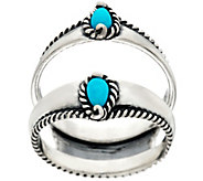 Carolyn Pollack Sleeping Beauty Turquoise Sterling Silver Ring Guard - J328186