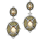 Judith Ripka Champagne Quartz & Diamonique Drop Earrings - J329086