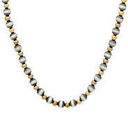 Sterling & Brass Bead 17 Necklace by American West - J329186