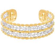 Genesi 18K Clad White Topaz Cuff Bracelet, 34.0g - J330186