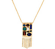 C. Wonder 30 Wheat Chain Multi-Stone Station Necklace - J331286
