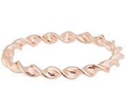 As Is Oro Nuovo Large Polished Ribbon Twist Round Bangle 14K - J331686