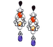 As Is Carolyn Pollack Sincerely Fabulous Sterl. Earrings - J332686