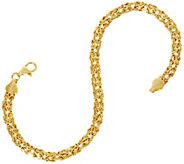 14K Gold 7-1/4 Polished Byzantine Bracelet, 2.8g - J333586