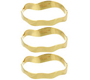 As Is H by Halston Set of 3 Sculptural Bangles - J333986