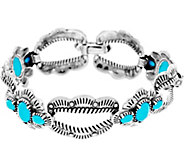 Sterling Silver Sleeping Beauty Turquoise Bracelet by American West - J334086