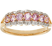 Baby Pink Spinel & Diamond Band Ring, 14K Gold 0.50 cttw - J335586