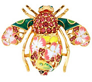 Joan Rivers Orchid Bee Pin - J345986