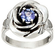Sterling Silver 0.45 ct Tanzanite Rose Ring by Or Paz - J347086
