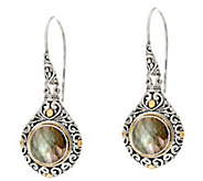 Artisan Crafted Sterling Silver & 18K Gold Gemstone Dangle Earrings - J348086