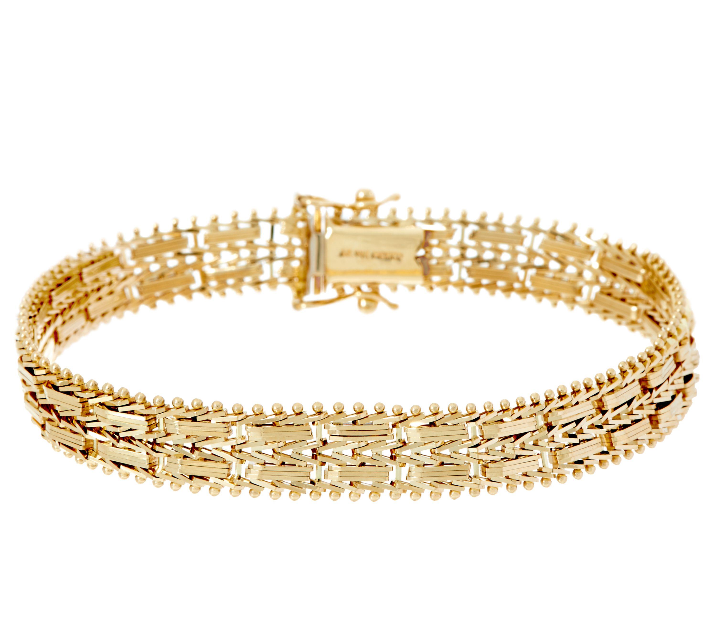 imperial gold 6 3 4 mirror bar bracelet 14k