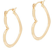 Polished Heart Hoop Earrings with Gift Box 14K Gold - J353086