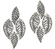 Or Paz Sterling Silver Textured Leaves Earrings - J354986