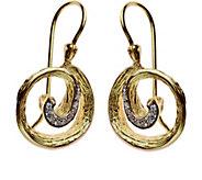 Adi Paz Diamond-Accent Swirl-Design Earrings, 14K Gold - J379586