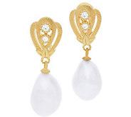 Judith Ripka Sterling & 14K-Clad Cultured PearlDrop Earrings - J379986