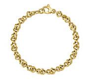 Italian Gold Rectangle Link Bracelet 14K, 19.5g - J381486