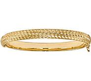 Italian Gold Diamond Cut Hinged Bangle 14K, 7.6g - J381586