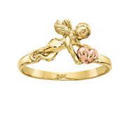 14K Gold Two-Tone Angel Ring - J382086