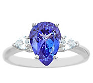 14K Gold 2.00 cttw Pear-Shaped Tanzanite Ring - J382586