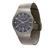 Skagen Mens Extra Large Stainless Steel Mesh Bracelet Watch - J104087