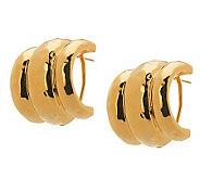 Joan Rivers Classic Hammered Hoop Earrings - J268787