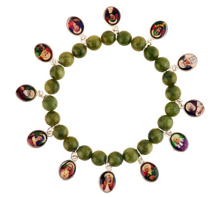 Connemara Marble Irish Saints Stretch Bracelet Qvc Com