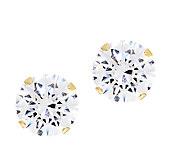 Diamonique 2.00 cttw Round Stud Earrings, 14K Gold - J290087