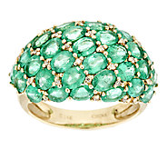 4.50 ct tw Zambian Emerald Domed Ring, 14K Gold - J291487