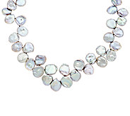 Honora Keshi Cultured Pearl Sterling Graduated Necklace - J293687