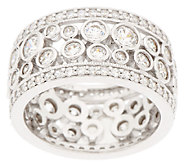Diamonique Bubble Design Eternity Band Ring, Platinum Clad - J294187