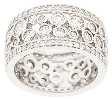 Epiphany Diamonique Bubble Design Eternity Band Ring