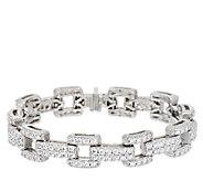 Judith Ripka Sterling 6.95 ct tw Diamonique Link 6-3/4 Bracelet - J295487