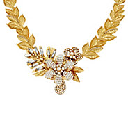 Joan Rivers Crystal Laurel Statement__ Necklace with 3 Extender - J296887