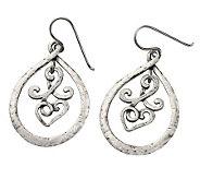 Or Paz Sterling Swirl Frontal Hoop Earrings - J301487