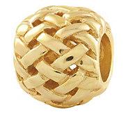 Prerogatives Gold-Plated Sterling Basket WeaveBali Bead - J302687