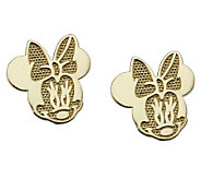 Disney Minnie Mouse Stud Earrings, 14K Gold - J303387