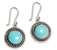 Novica Artisan Crafted Sterling Andes Moon Drop Earrings - J303587