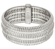 Vicenza Silver Sterling 8 Triple Row Omega Bracelet 44.8g - J317287