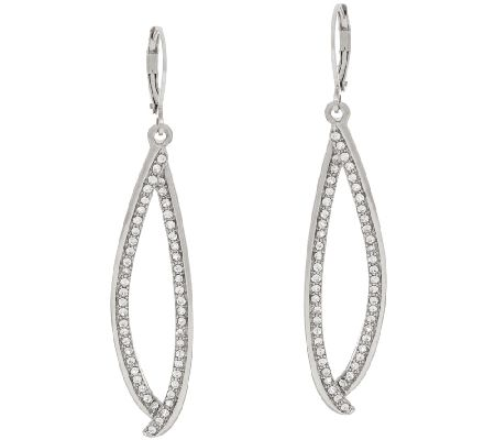 Joan Rivers Pave' Marquise Lever Back Earrings - J317587