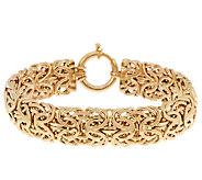 14K Gold 6-3/4 Bold Mirror Byzantine Bracelet, 12.1g - J319487